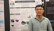Ce Xi in front of his research poster at the SB3C 2016 conference