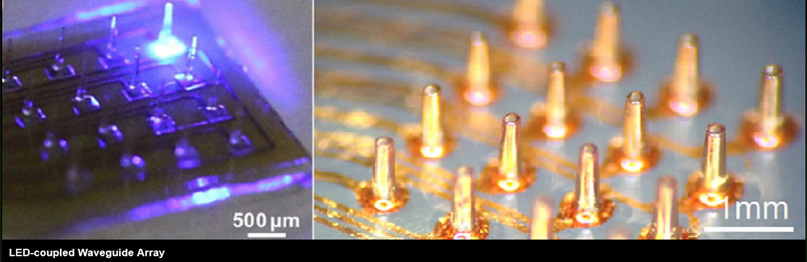 LED-coupled Waveguide Array
