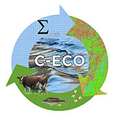 Computational Ecohydrology Group (C-ECO) logo : three arrows in a circlular pattern